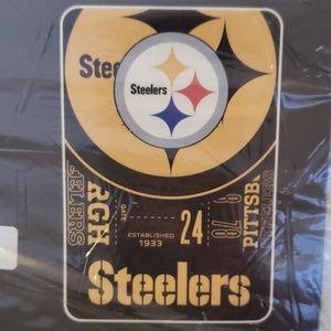 Oversized NFL Steelers Fleece Throw Blanket